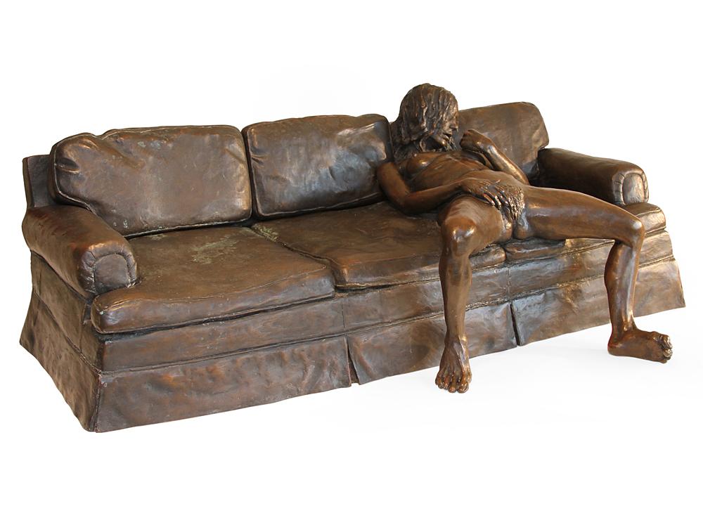 Leslie Stefanson - Self Portrait: On the Couch